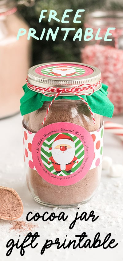 This would make such a great holiday neighbor gift. Love this cute free printable and DIY gift idea for Christmas.