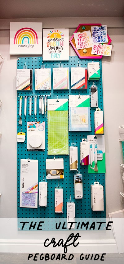 Finishing up my Craft closet I thought it would be fun to show you How to Make a Giant Pegboard for Your Craft Room. It's really easy - it looks good and when you opt to do it yourself you can save a LOT of money.