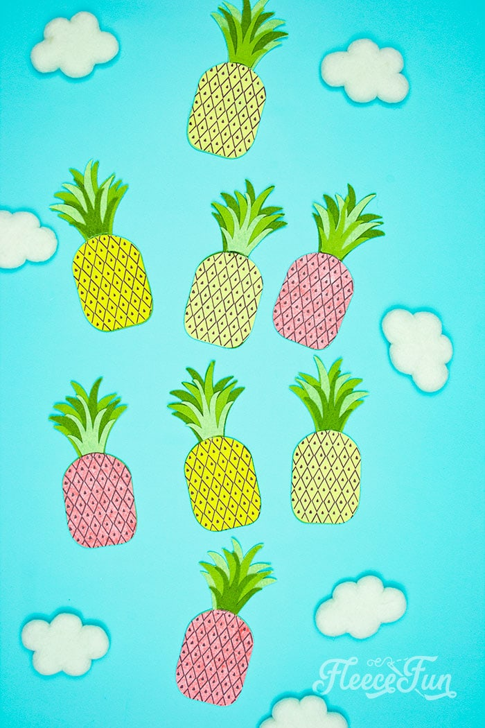 This DIY Pineapple décor is easy to make and has many possibilities! Use the free files to make anything from a cute shirt using HTV to a pillow using fabric. There is something magical about pineapples. They brings feeling of warmth, vacation and fun!