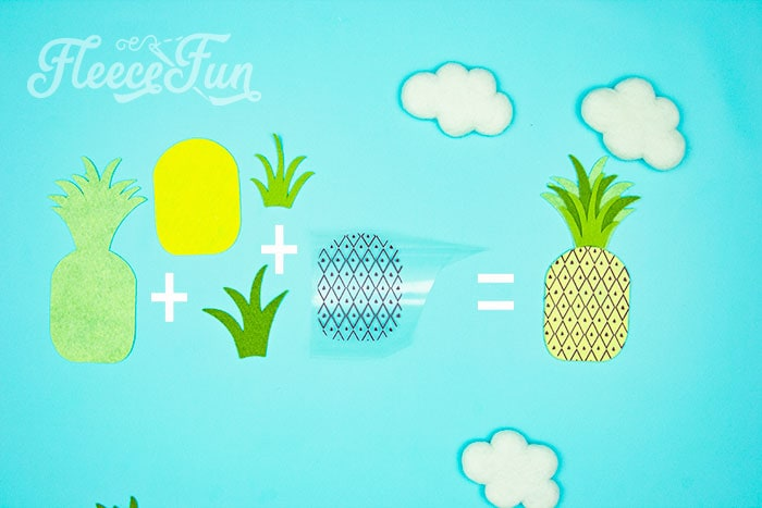 how the pineapple comes together. This DIY Pineapple décor is easy to make and has many possibilities! Use the free files to make anything from a cute shirt using HTV to a pillow using fabric. There is something magical about pineapples. They brings feeling of warmth, vacation and fun!