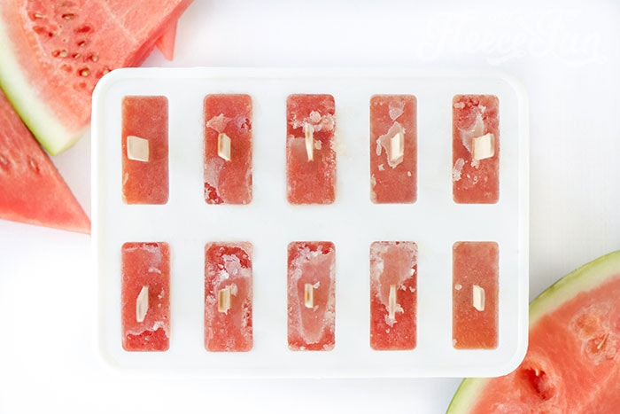 popsicles frozen. This easy watermelon popsicle recipe is the perfect summer treat. Made with a few simple ingredients: it's fun blend of sweet and tart to tickle the taste buds.