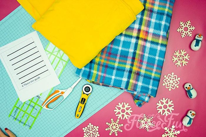 Learn how to make a No Sew Fleece Tie Blanket 3 different ways. Never before seen techniques and FREE templates to make it fast and easy.