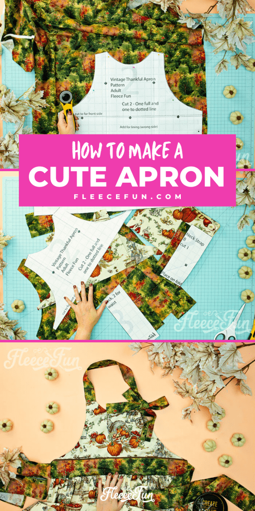 This Free apron pattern and tutorial includes a pdf pattern and video! Make a vintage style apron that is chic.