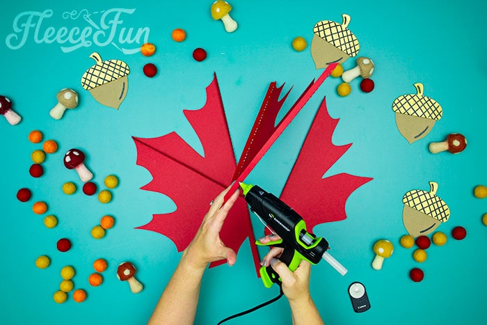 leaf being glued. This Giant Maple Leaf Template and Tutorial (Free PDF and SVG) is larger than life. This step by step tutorial shows how to bring fall foliage indoors.