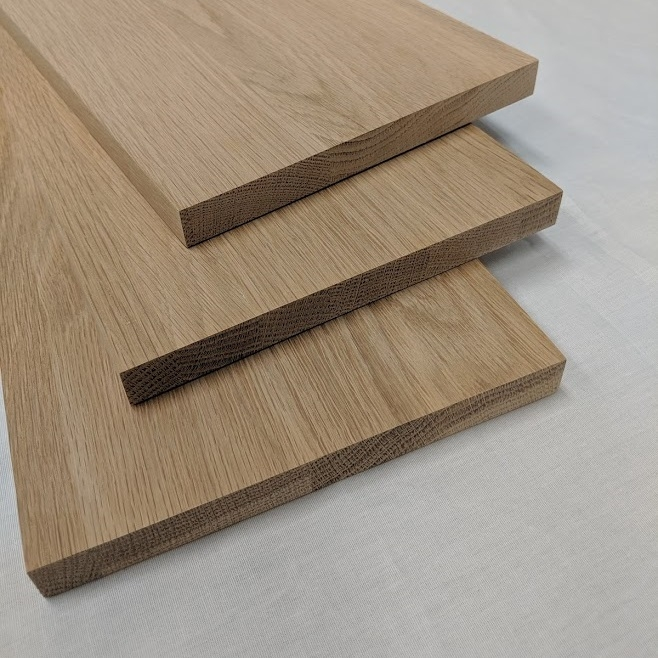 White Oak Stair Risers Wholesale | Oak Stairs With White Risers | Natural | Red Oak | Character | Hardwood | Dark Walnut Staircase