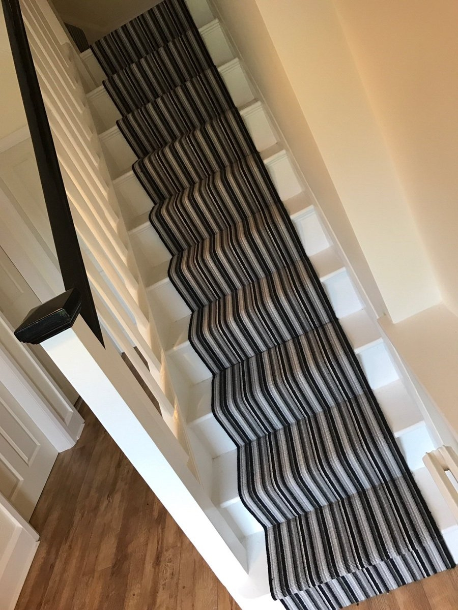 Stylish Stair Runners Offer The Best Of Both Worlds | End Of The Roll Stair Runners | Roger Oates | Staircase Makeover | Wall Carpet | Hallway Carpet | Stair Treads