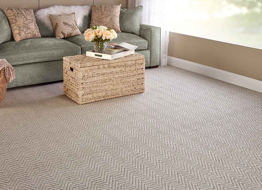 What Carpets Are Trending In 2020 Flooring America | Zig Zag Stair Carpet | Winding Staircase | Geometric | Metal Bar On Stair | Red | Traditional