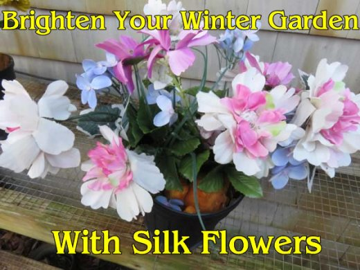 Keep your garden cheerful in winter with silk flowers      Floral     silk flower winter