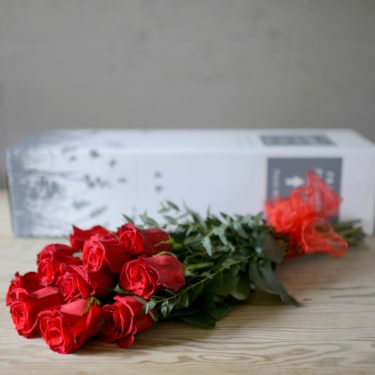 Valentines Flowers  Romantic flowers delivered for Valentine s Day     12 RED ROSES BOXED