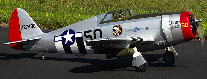 Hangar 9 P 47D Thunderbolt 20cc   FlyingGiants Splash