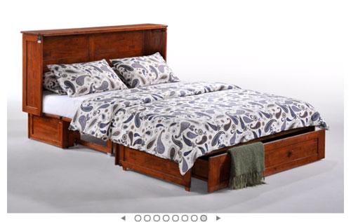 Solid Wood Clover Murphy Bed Cabinet Dnfs Rollaway