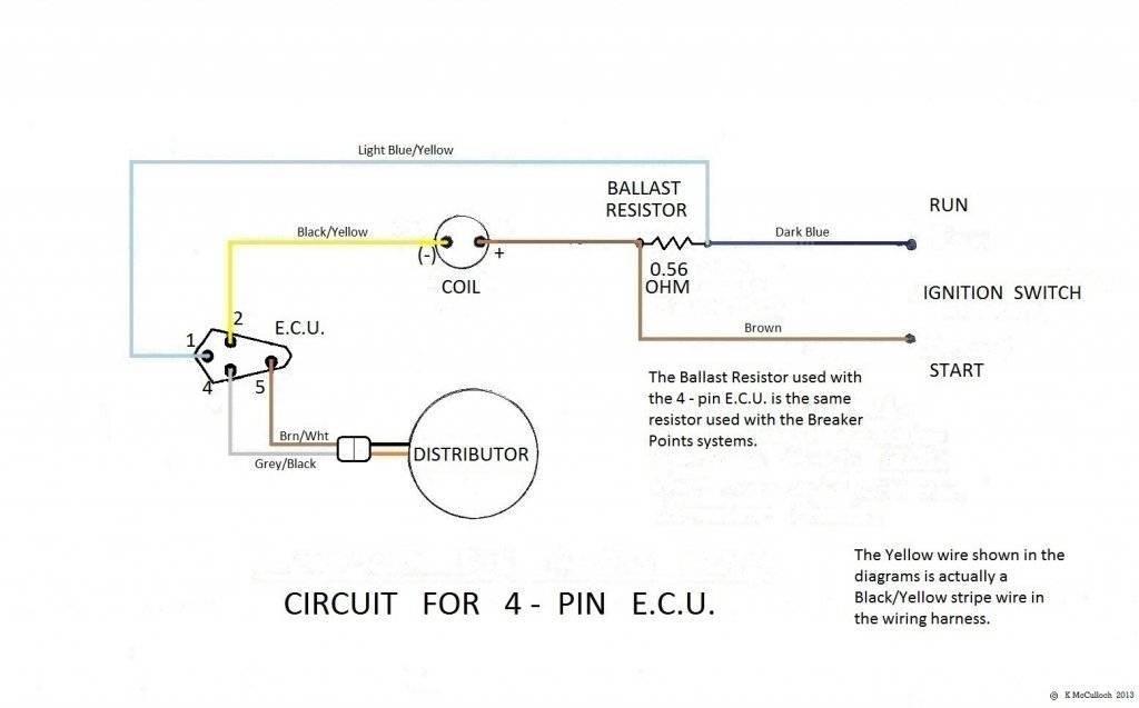 4 Pin Ballast Wiring Diagram Mopar Electronic Ignition No