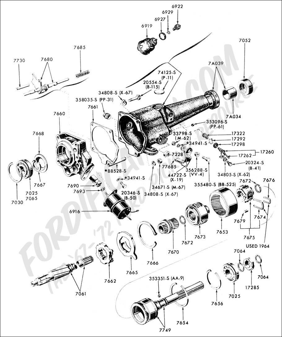 Overdrive transmission and extension typical