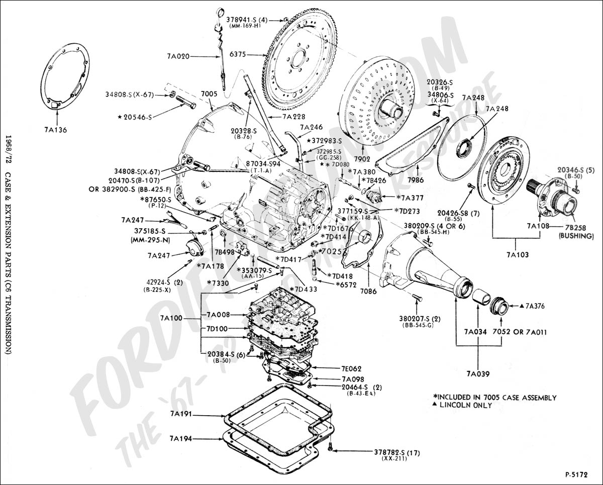 Ford truck technical drawings and schematics section g rh fordification ford c4 trans ford aod trans