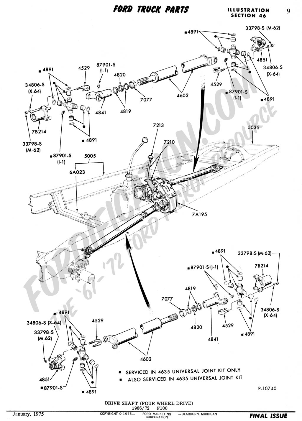 F350 2000 Axle Parts Front