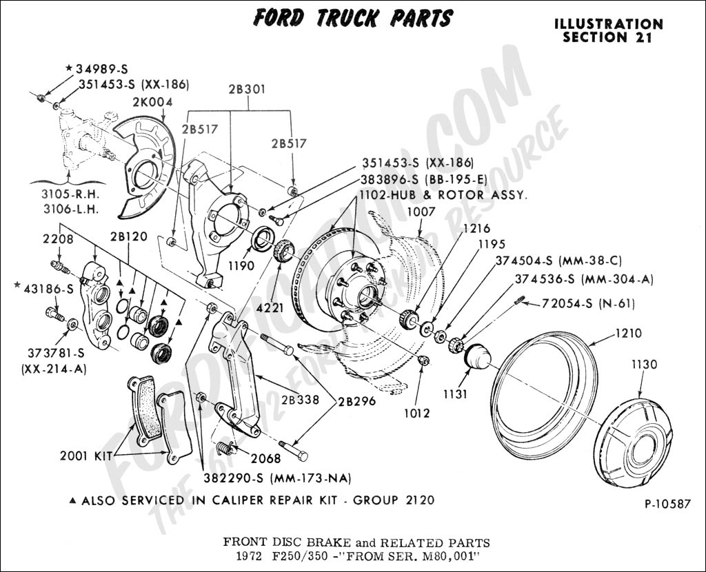 2000 F250 Front Hub Assembly Schematics