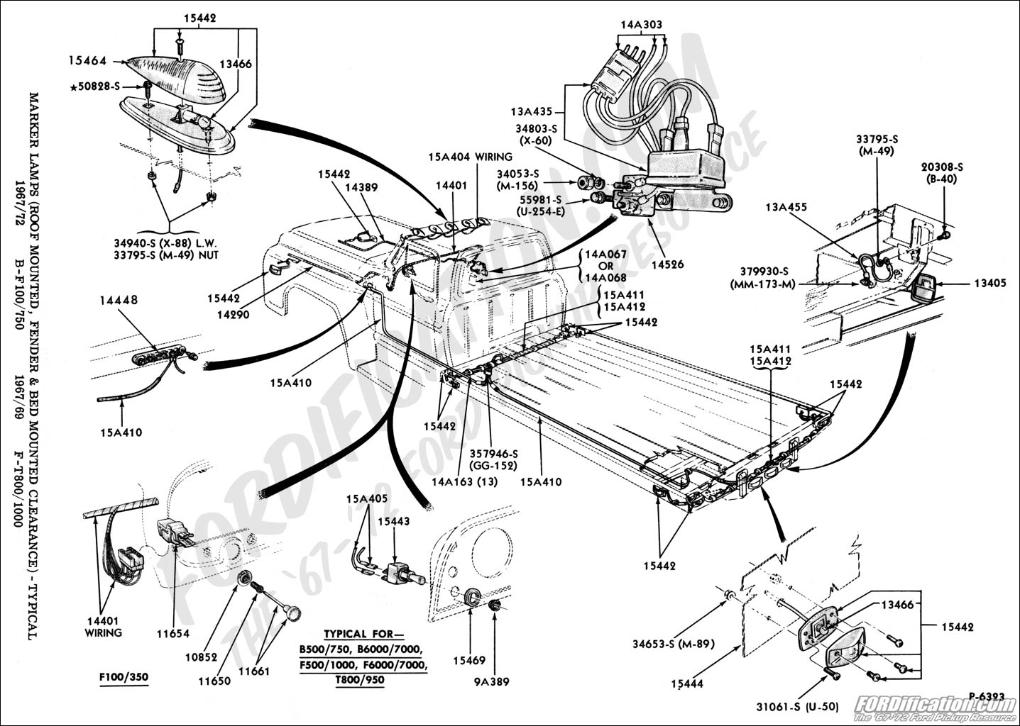 Ford truck technical drawings and schematics section i electrical and wiring