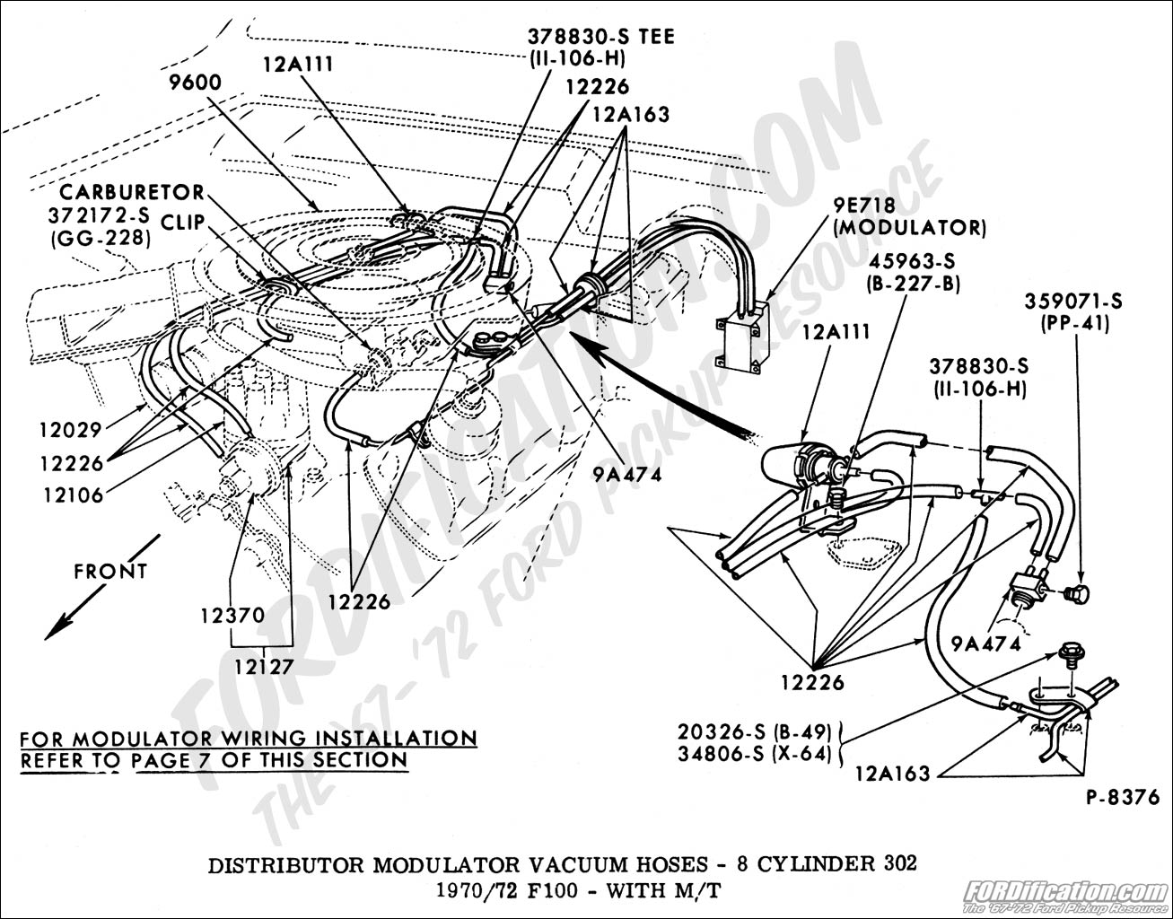Ford truck technical drawings and schematics section i ford 360 vacuum diagram diagram ford 360 distributors