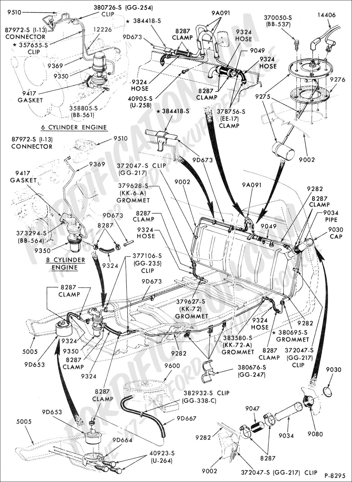 Ford truck technical drawings and schematics section e engine wiring diagram