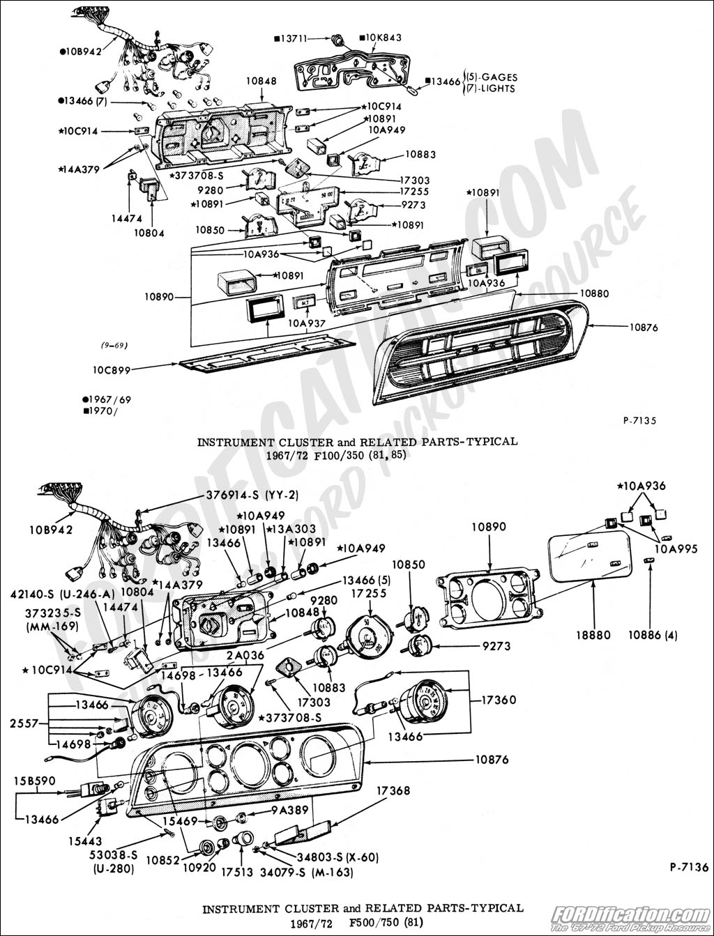 1970 Ford Truck Parts Catalog
