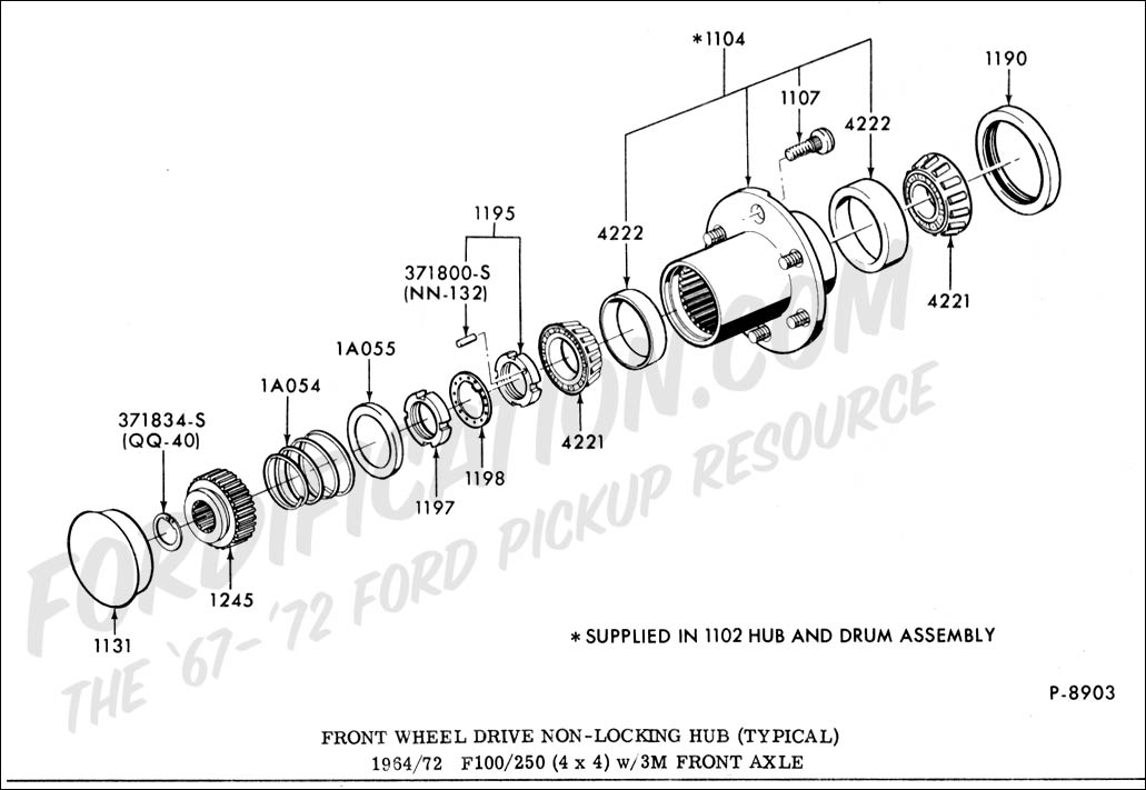 Front 2000 Parts F350 Axle