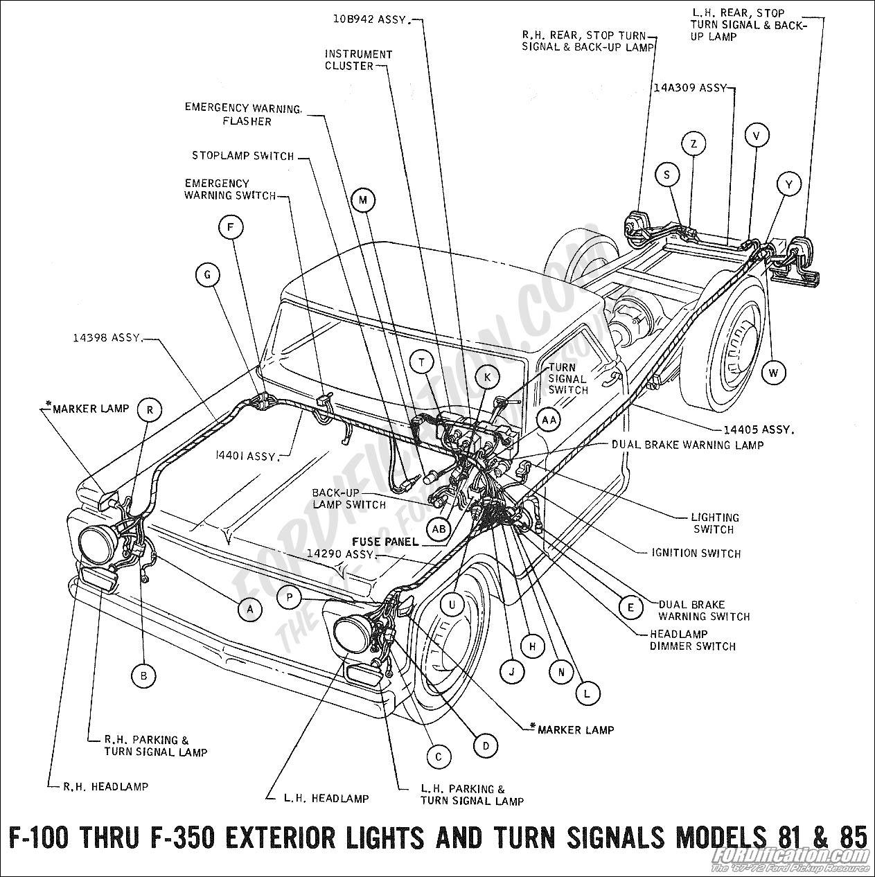 1969 f 100 thru f 350 exterior lights and turn signals
