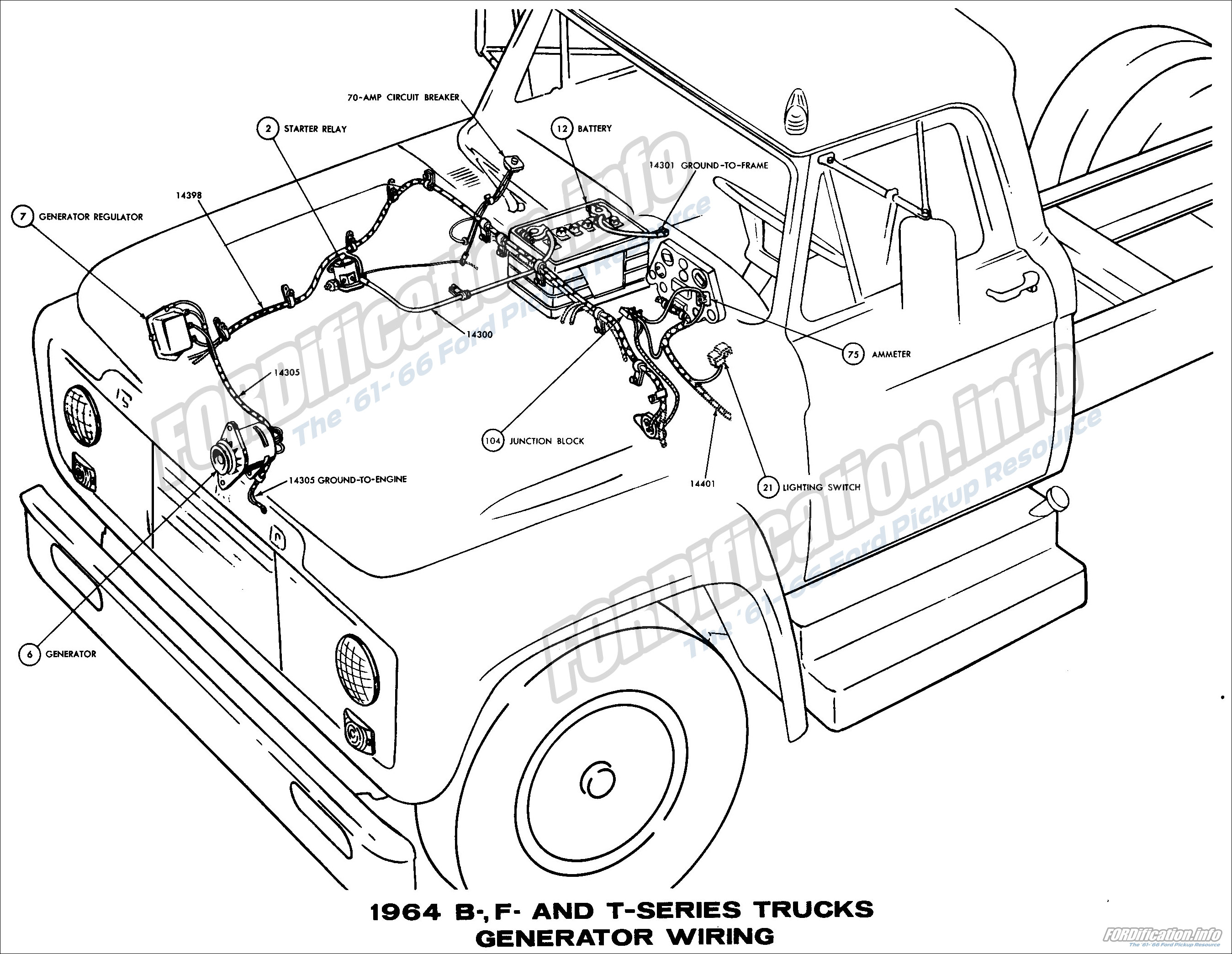 1964 ford truck wiring diagrams fordification info the 61 66 rh fordification info 1962 ford pickup 1967 ford pickup