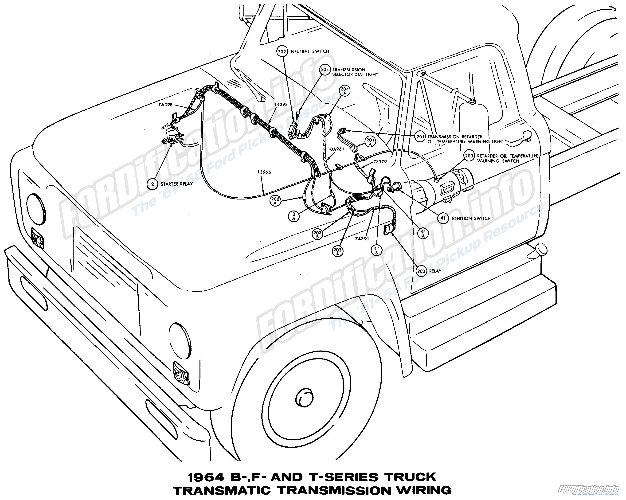 1964 ford truck wiring diagrams fordification info the 61 66