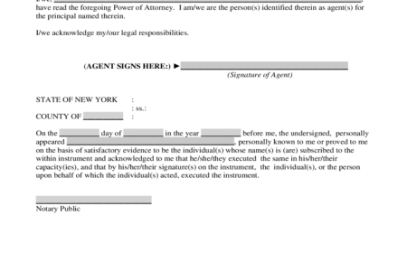 Free Forms 2018 Power Of Attorney New York Statutory Short Form