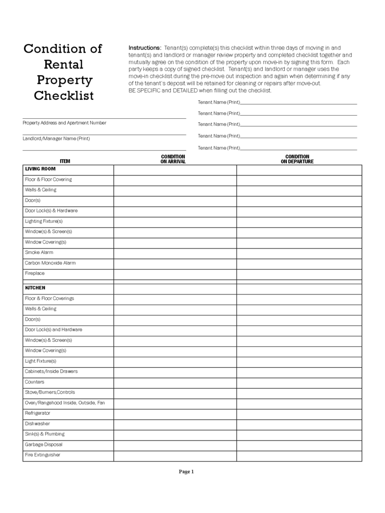 Blank Vehicle Inventory Sheet