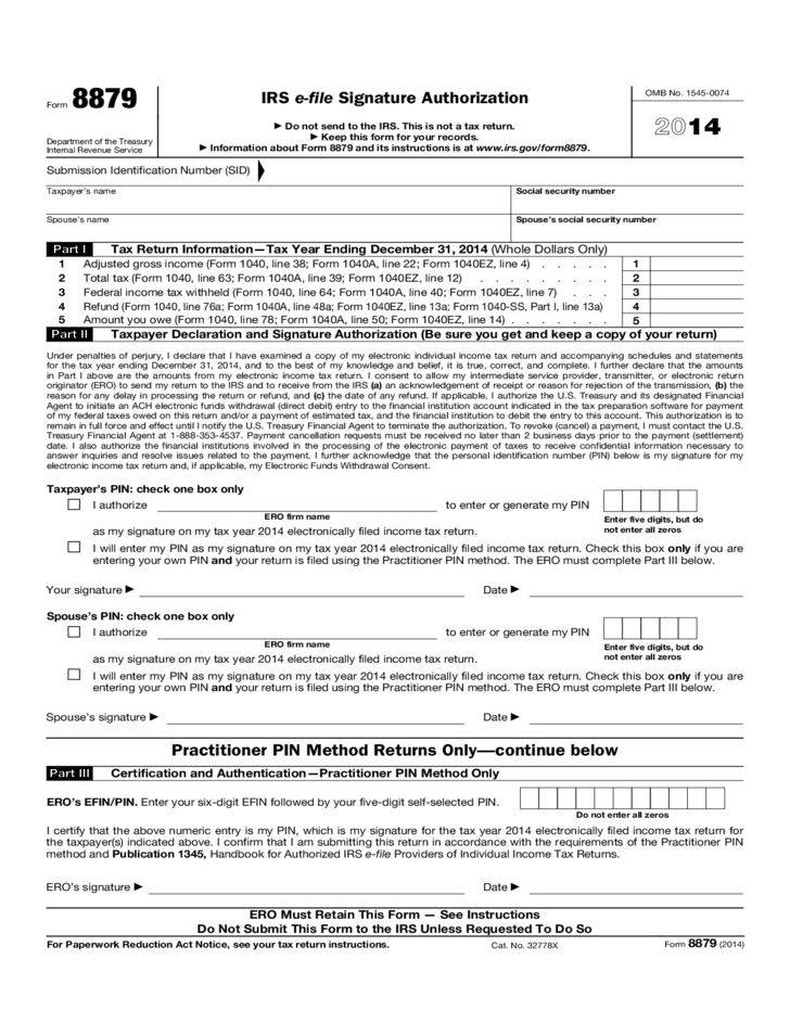 Federal Income Tax Form 1040 2014