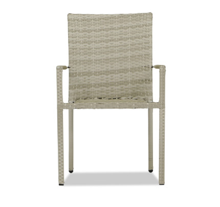 Buy Outdoor  Garden  Rattan   Wicker Furniture   FortyTwo Singapore     Wakiky Outdoor Dining Chair Cream