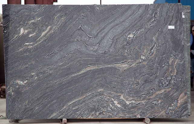Silver Brown Wave L 0914 Fox Marble