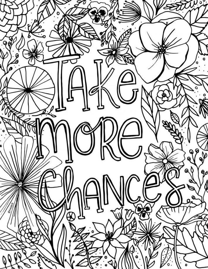 Free Encouragement Flower Coloring Page Printable Fox Hazel