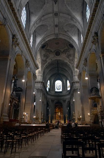 Inside The Saint Sulpice Church Latin Quarter France