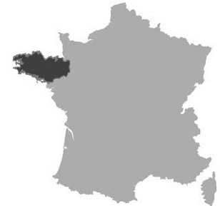 Brittany region of France  all the information you need Map of Brittany in France