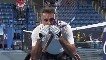 the Houdet-Peifer couple secured a medal in wheelchair tennis