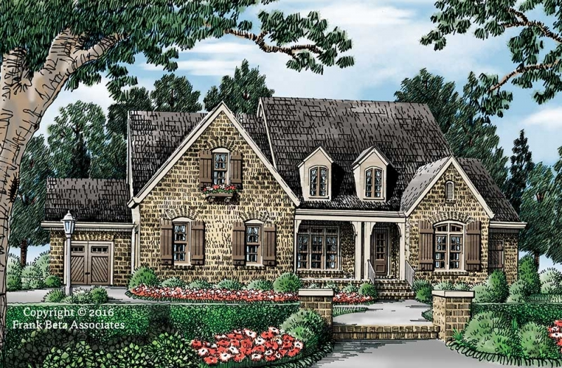 Colonial House Plans   Frank Betz Associates FILMORE PARK Colonial House Plans