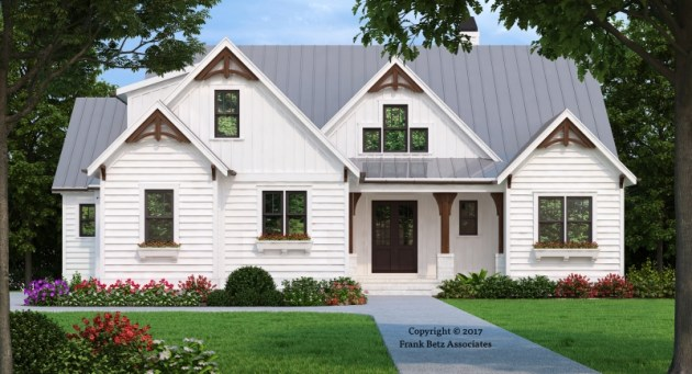 Craftsman Style House Plans   Frank Betz Associates HICKORY FLAT Craftsman Style House Plans
