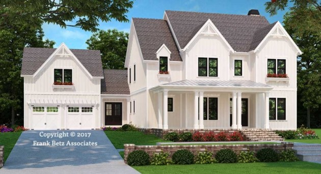 House Plans with Inlaw Suites   Frank Betz Associates SENECA FALLS House Plans with Inlaw Suites