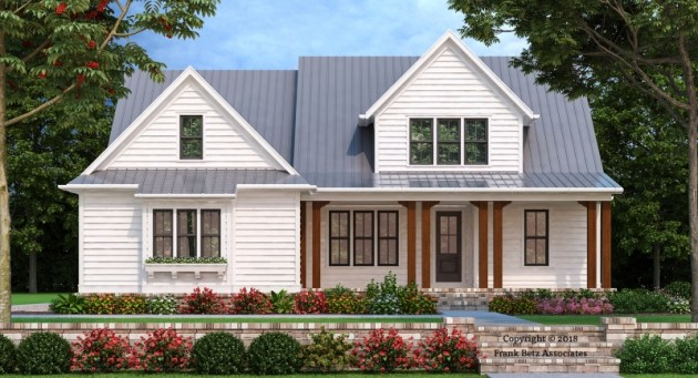 Farmhouse Plans   Frank Betz Associates BLUFFTON WAY Farmhouse Plans