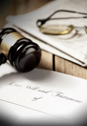 Legal Wills   More Questions and Answers last will with gavel