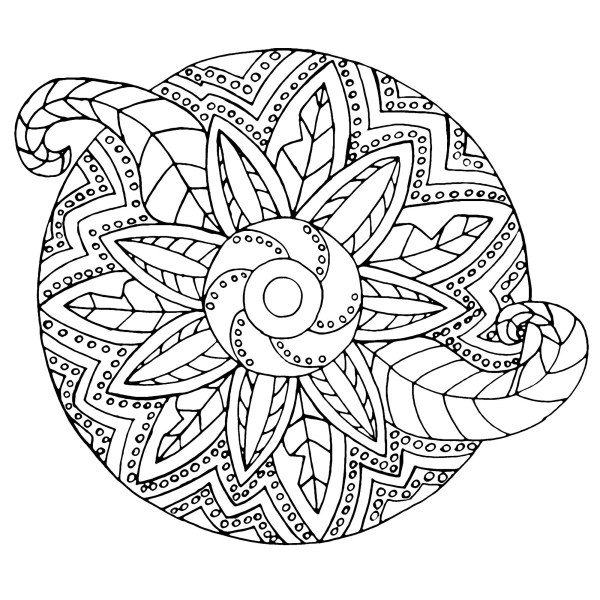 easy mandala coloring pages # 3