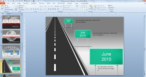 Awesome Timeline Charts Template for PowerPoint Presentations timeline roadmap powerpoint