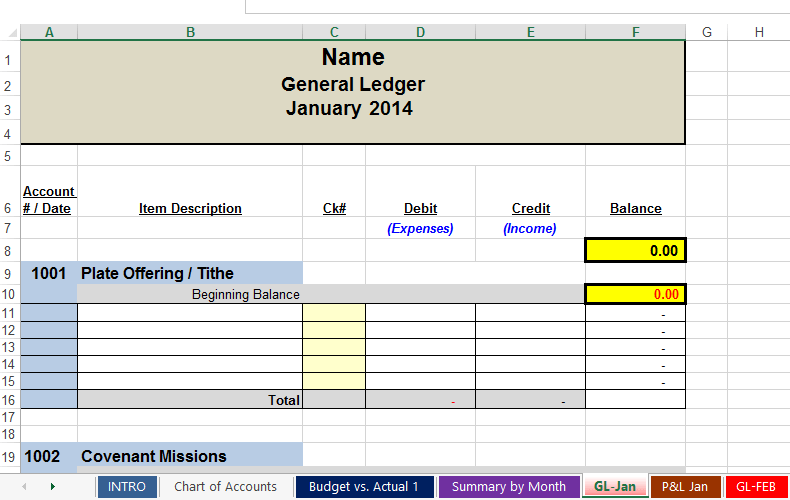 Yearly Budget Template Printable
