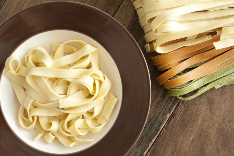 Cooked And Dried Tagliatelle Pasta Free Stock Image