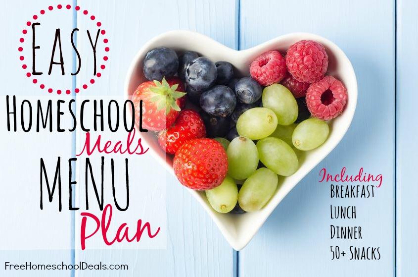 High School Lunch Menu Ideas