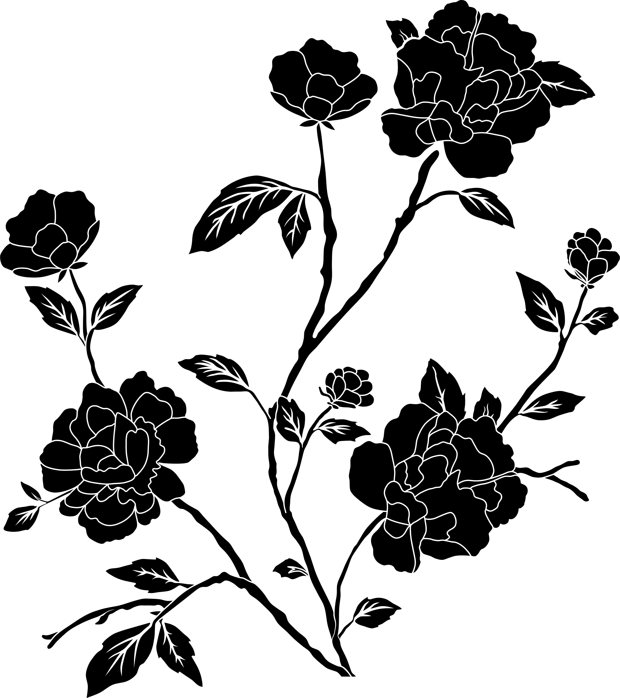 Flower Black And White Transparent PNG Pictures   Free Icons and PNG     Vintage Flowers Rose 2 image  41798