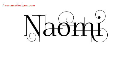 Decorated Name Tattoo Designs Naomi Free - Free Name Designs