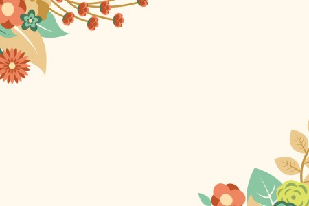 Free Powerpoint Backgrounds and Templates Orange Floral Summer